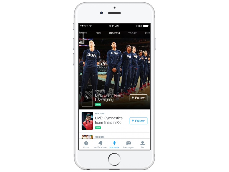 Twitter Revamps Moments Feature for Rio 2016 Olympics